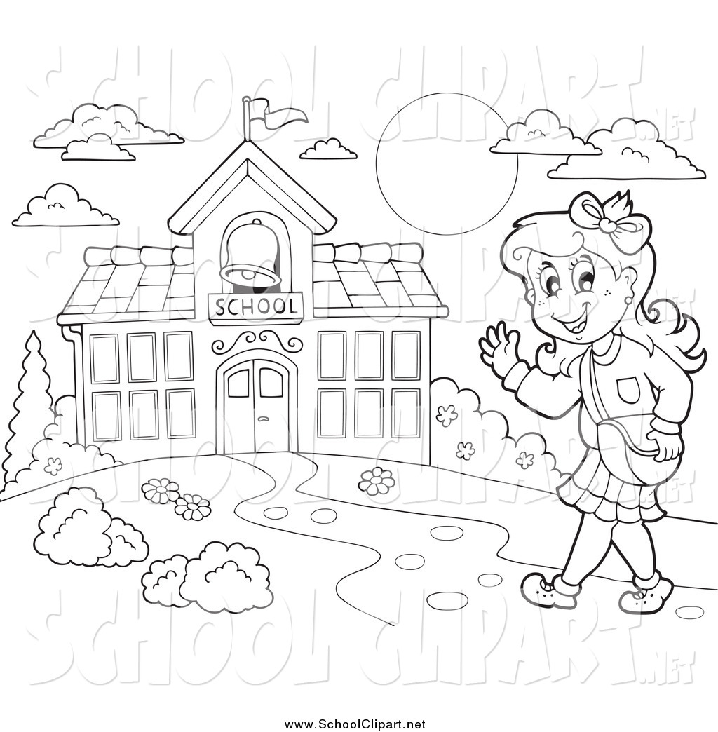 School Clipart Black White 20 Free Cliparts