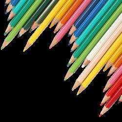 transparent pencils background clipart books banner coloured pencil crayon cliparts education colored supplies clip library pile lines