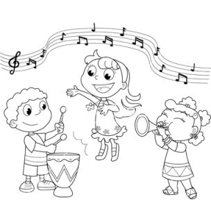 school singing in clipart black and white 20 free Cliparts