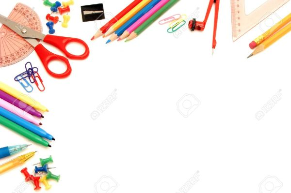 School Supplies Background Clipart 20 Free Cliparts
