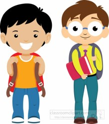 clipart student ready backpacks clip talking students schooll bag backpack dressed classroom transparent clipground graphics cliparts teachers background