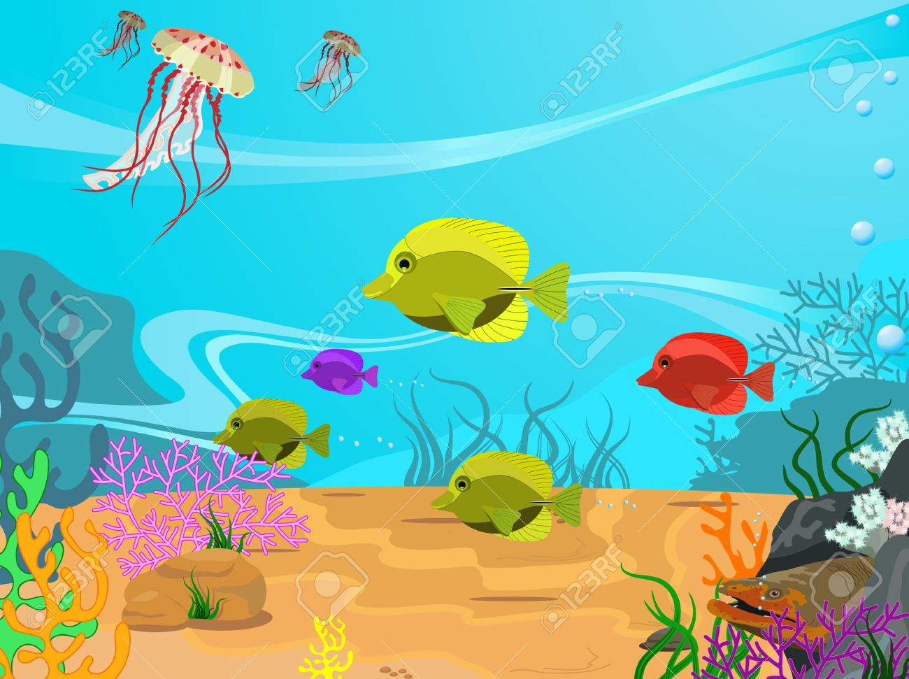 Cute Algae Wallpaper Seabed Clipart Clipground