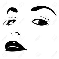 face seductive vector clipart hair wall decor beauty salon sticker spa file clip lack bvinyl clipground similar eps
