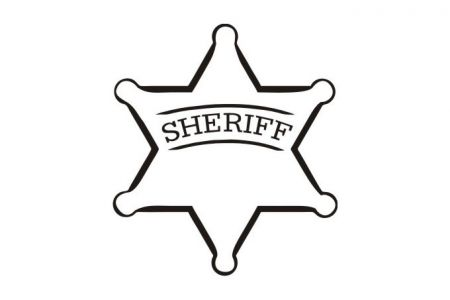 sheriff badge clipart black and white 10 free Cliparts