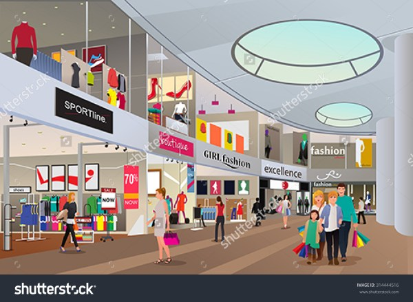 Shopping Center Clipart - Clipground
