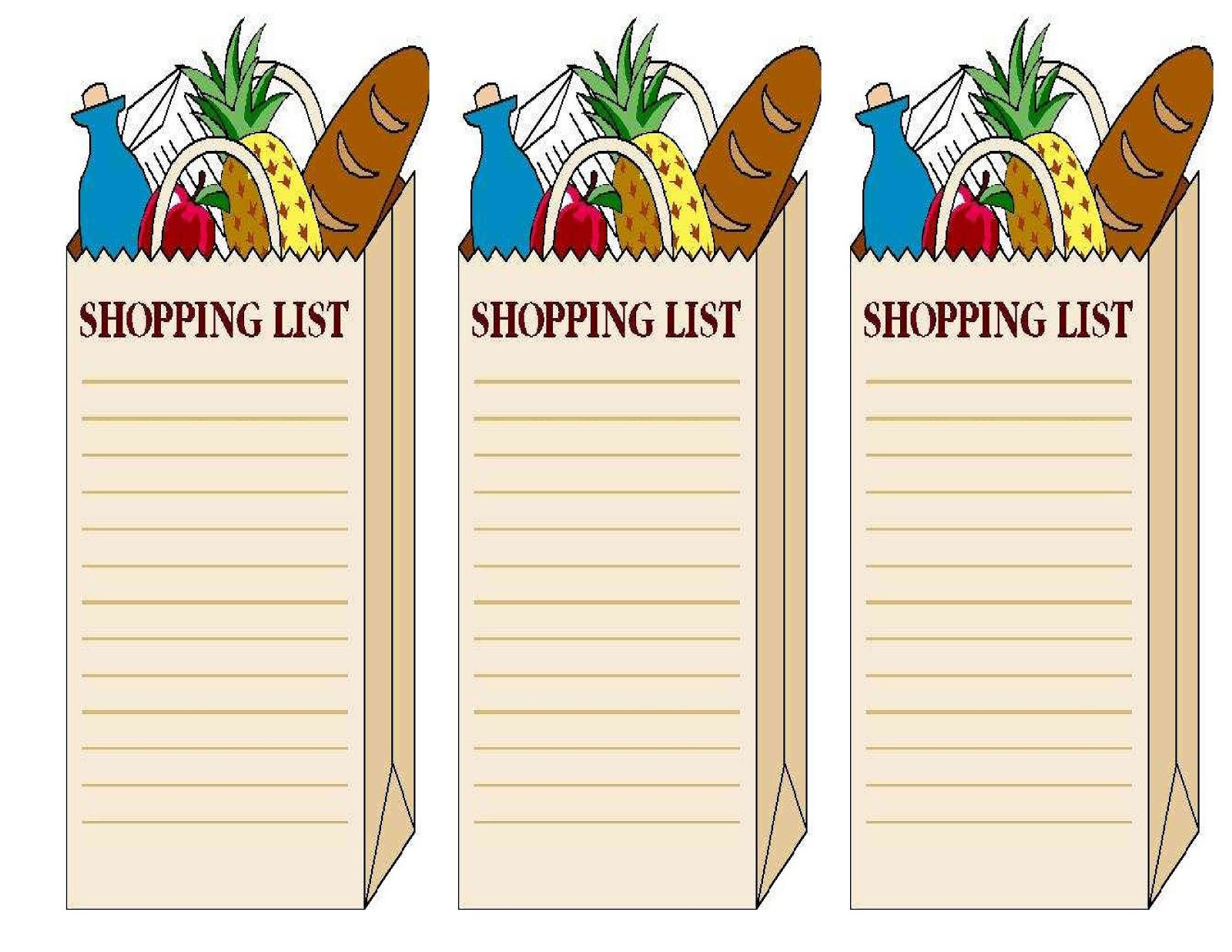 Shopping List Clipart 20 Free Cliparts