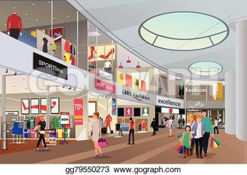 mall shopping clipart vector illustration drawing clipground