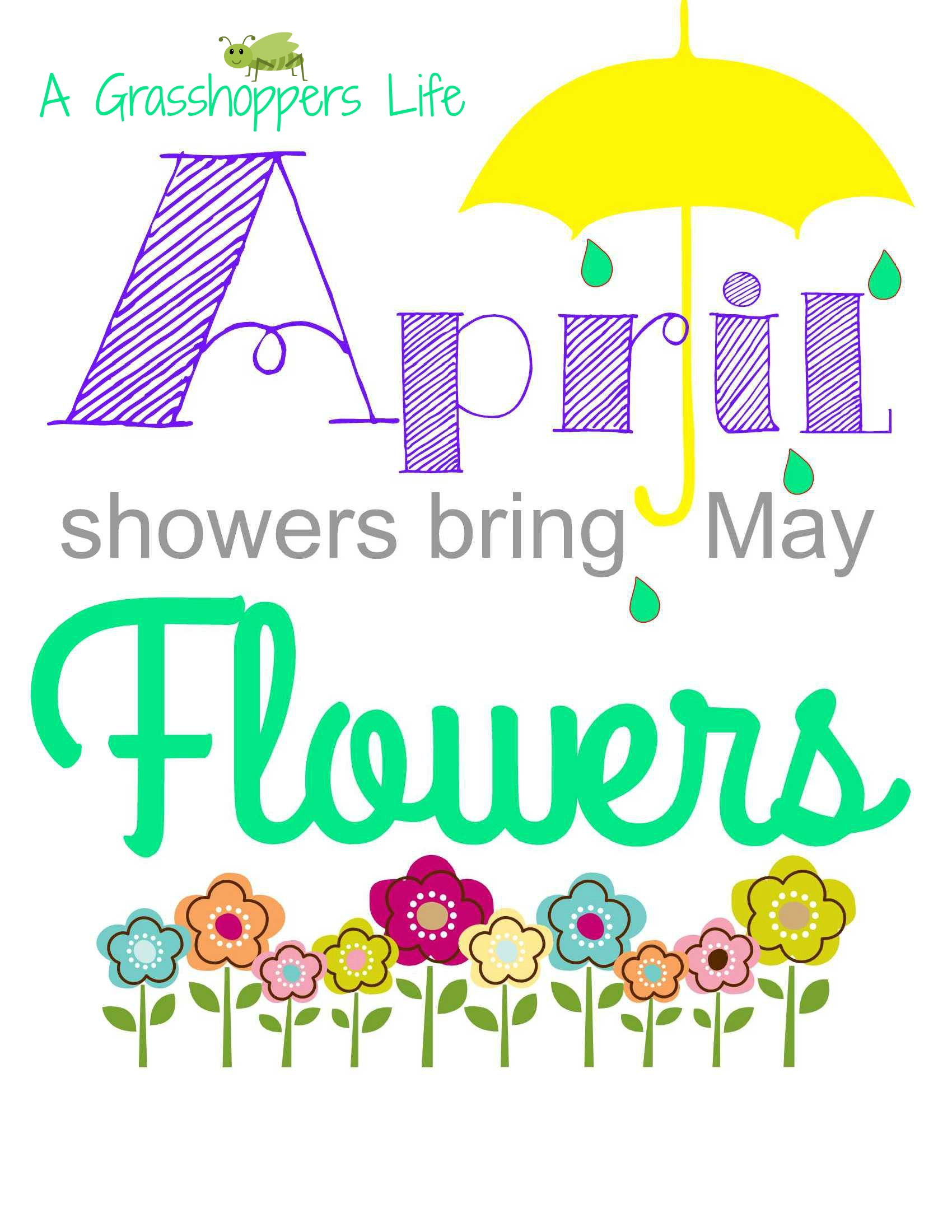 Showers of flowers clipart  Clipground