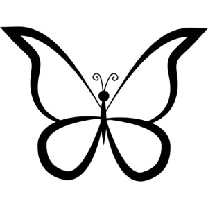 butterfly outline side profile clipart clipground