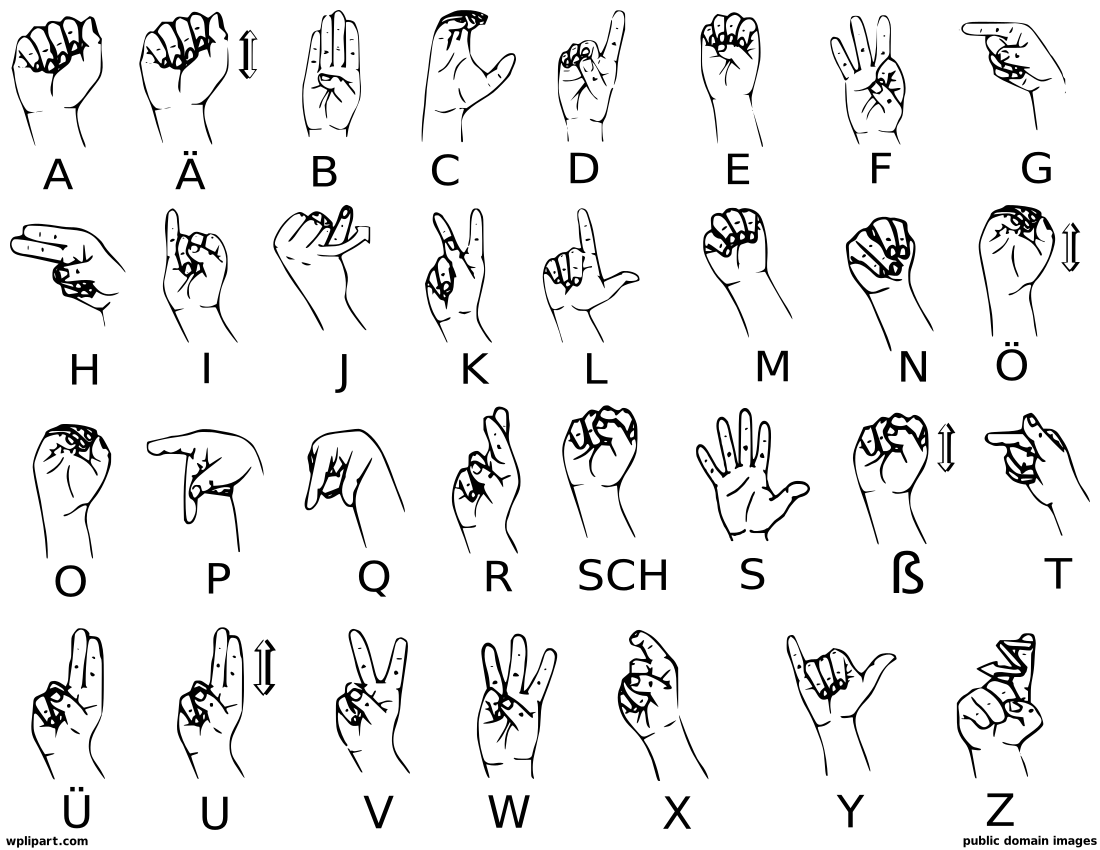Clipart Sign Language Alphabet