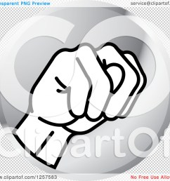 clipart of a silver icon of a sign language hand gesturing letter  [ 1080 x 1024 Pixel ]