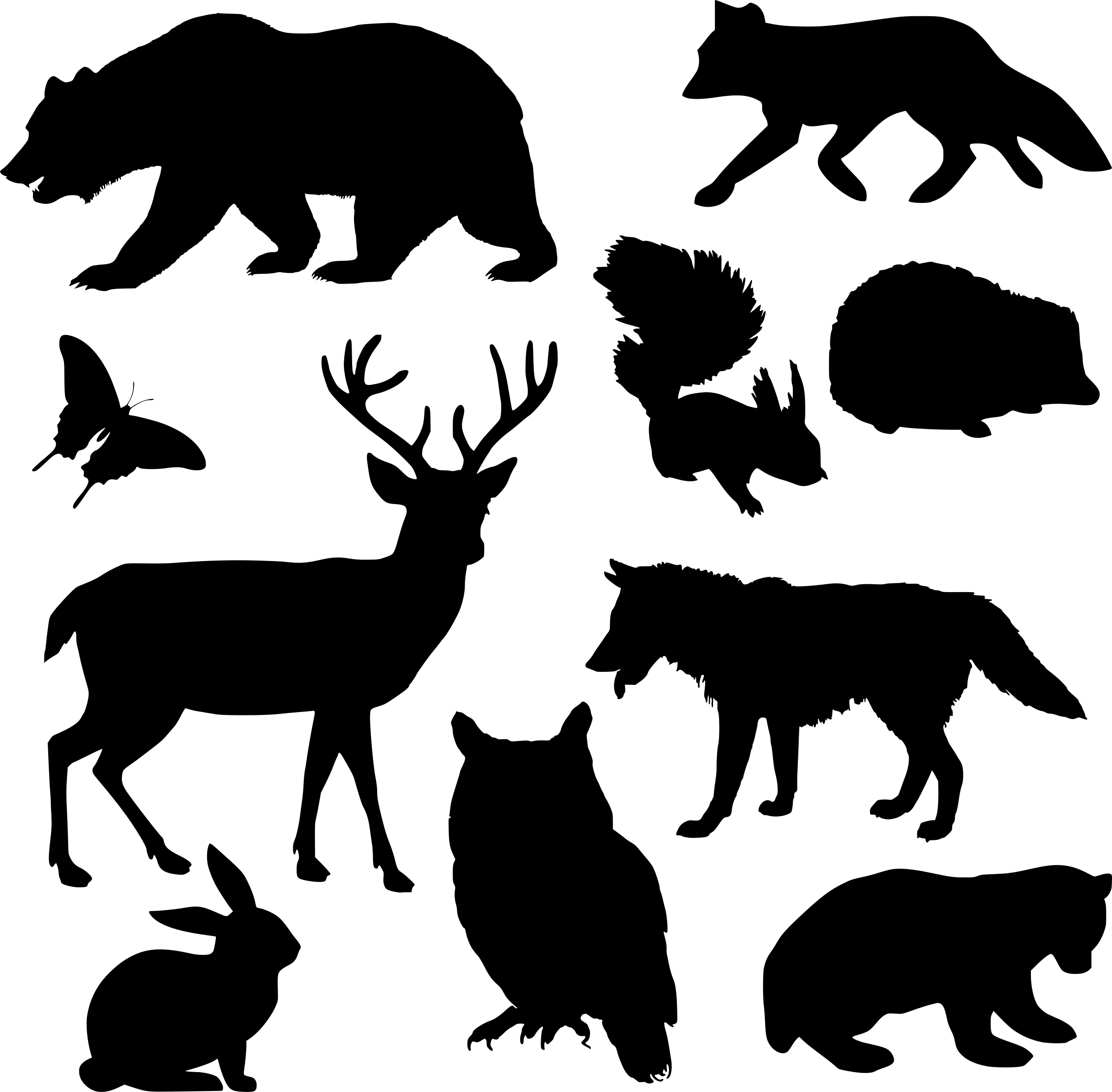 Silhouette animal clipart  Clipground