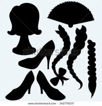 silhouette braid black hair from back clipart - Clipground