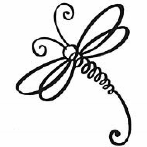 simple dragonfly clipart - clipground