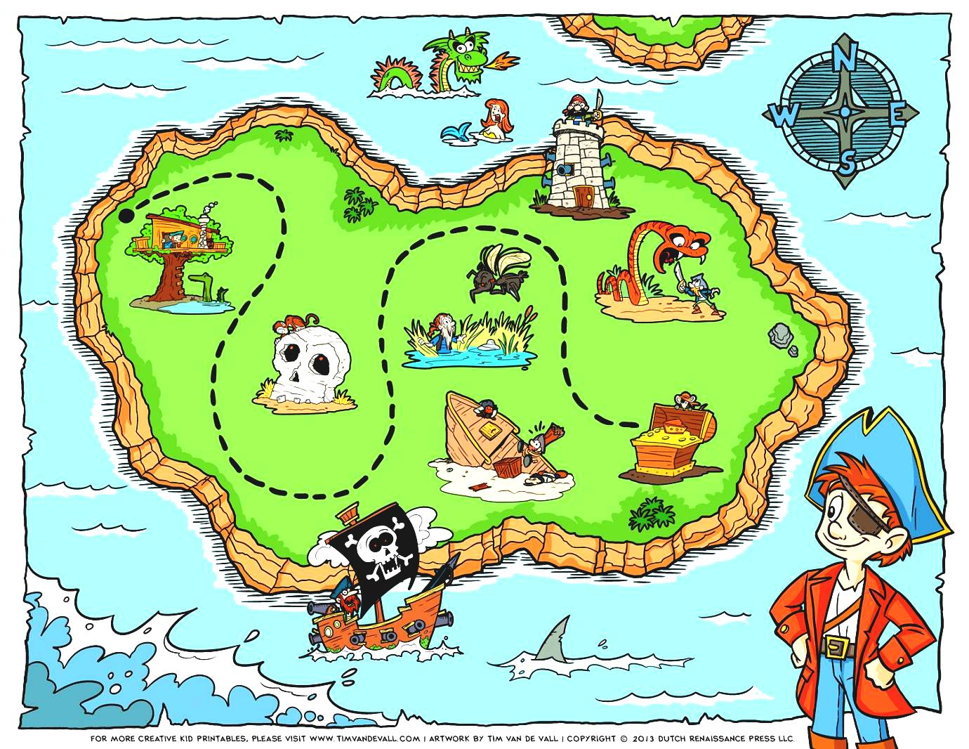 Island Map Worksheet