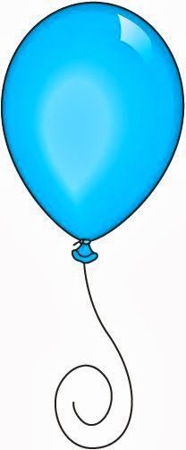 single birthday balloons clipart