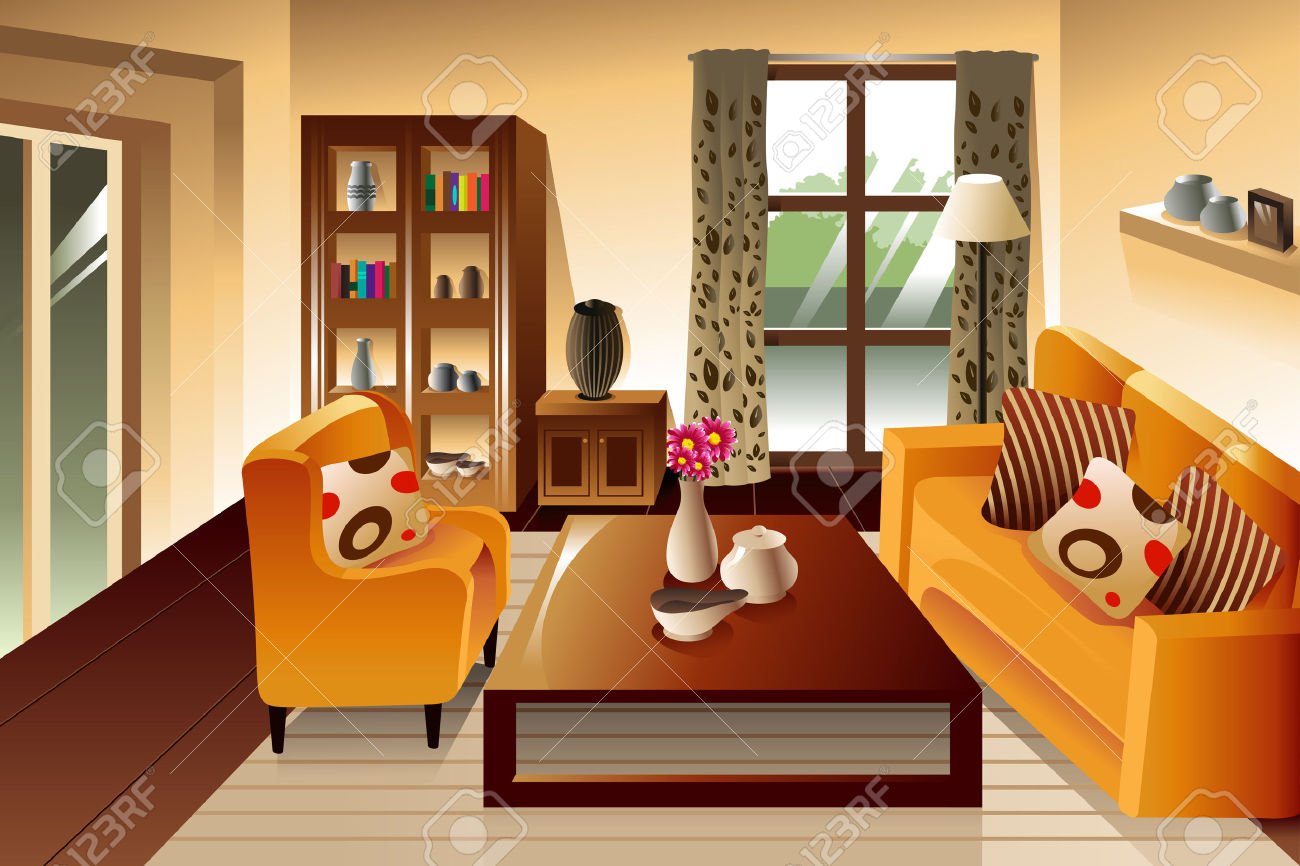 sitting room clipart