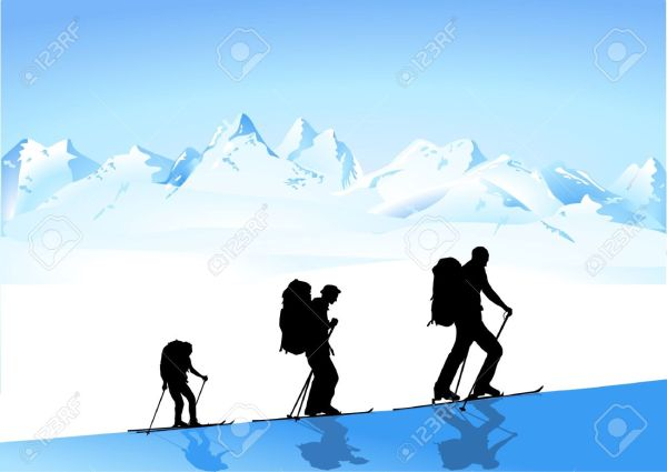 Ski Mountaineering Clipart - Clipground