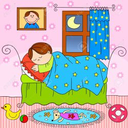clipart sleeping child bed clipground