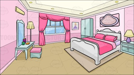 bedroom clipart room background cartoon sleeping bed teenage simple cliparts boys mirror clip pink library cartoons mother vector closet