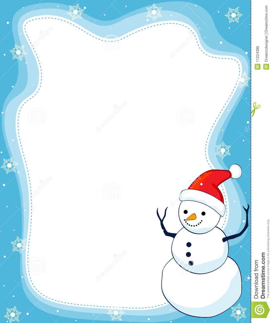 Snowman Clipart Border Clipground