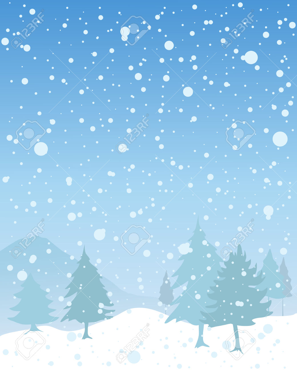 Snowy Landscape Clipart Clipground