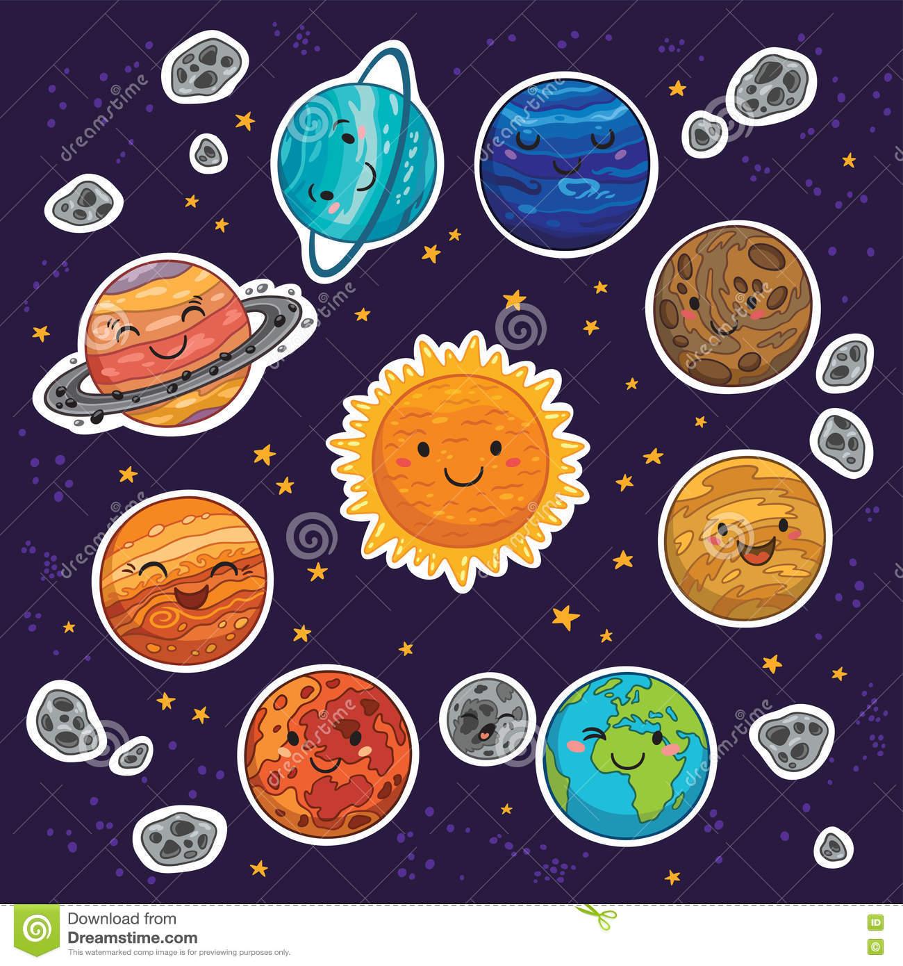 Solar System Clipart Kindergarten