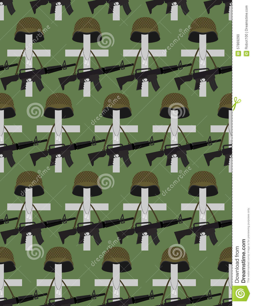 hight resolution of military cemetery vector background of memorial day crosses wi