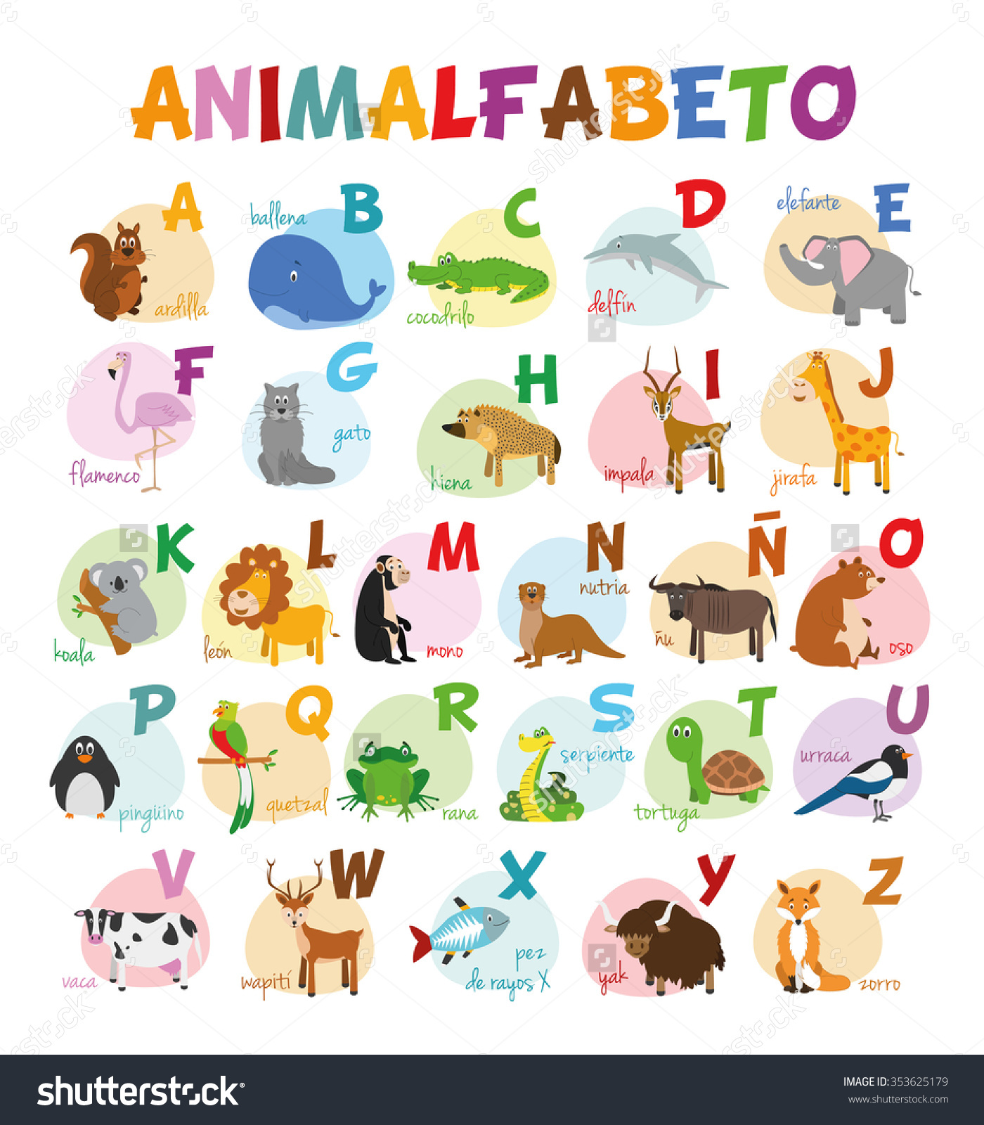 Spanish Animal Clipart