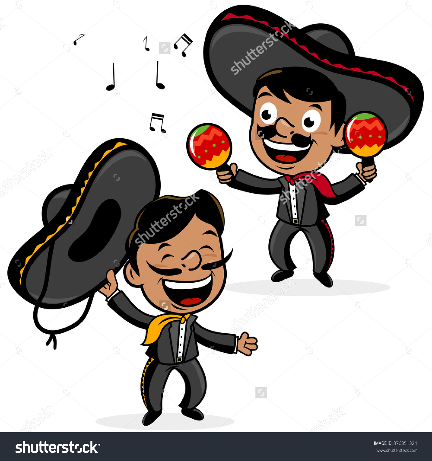 hight resolution of spanish man with sombrero clipart 16