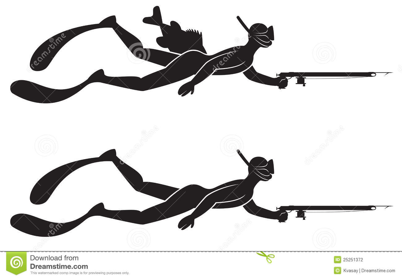 Spear Fishing Clipart