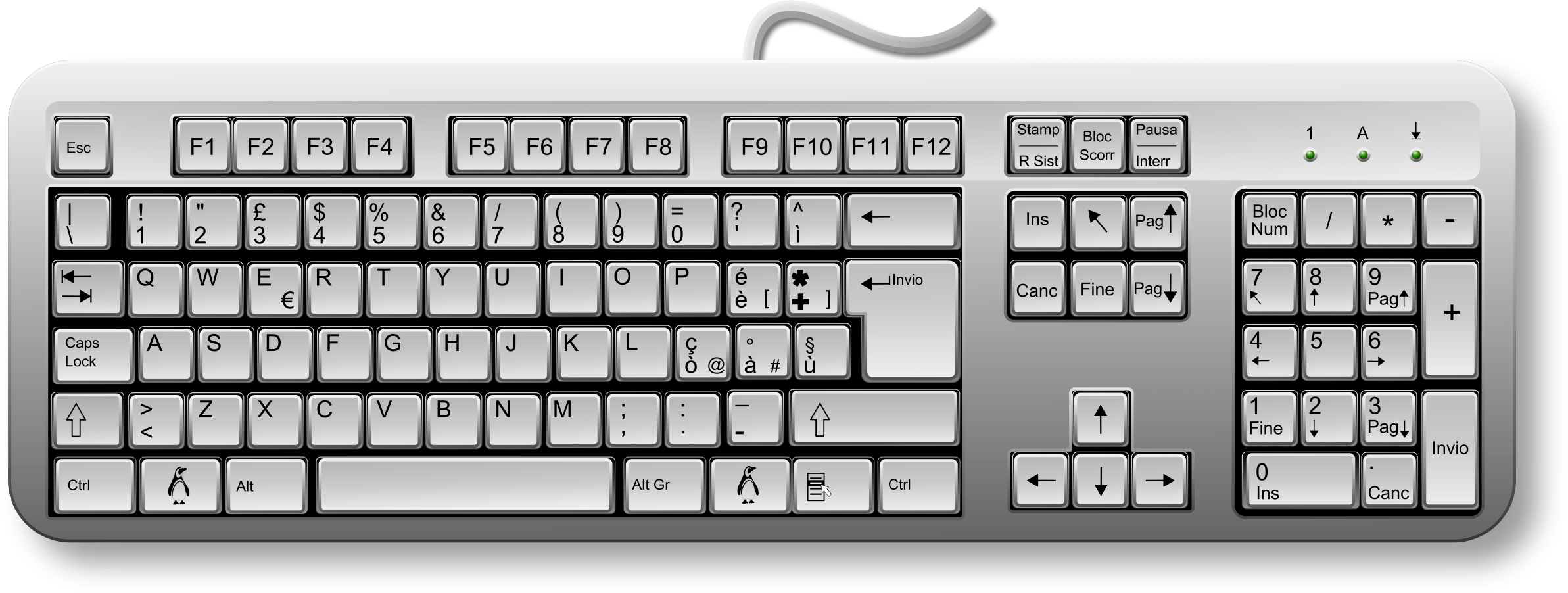 Special Keyboard Clipart