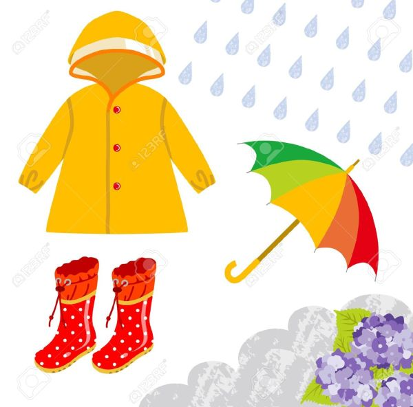 Free Clip Art Kids Rainy Days Clothes