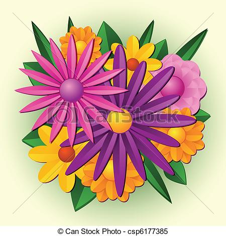 spring flower bouquet clipart
