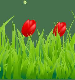 spring grass clip art  [ 4268 x 919 Pixel ]