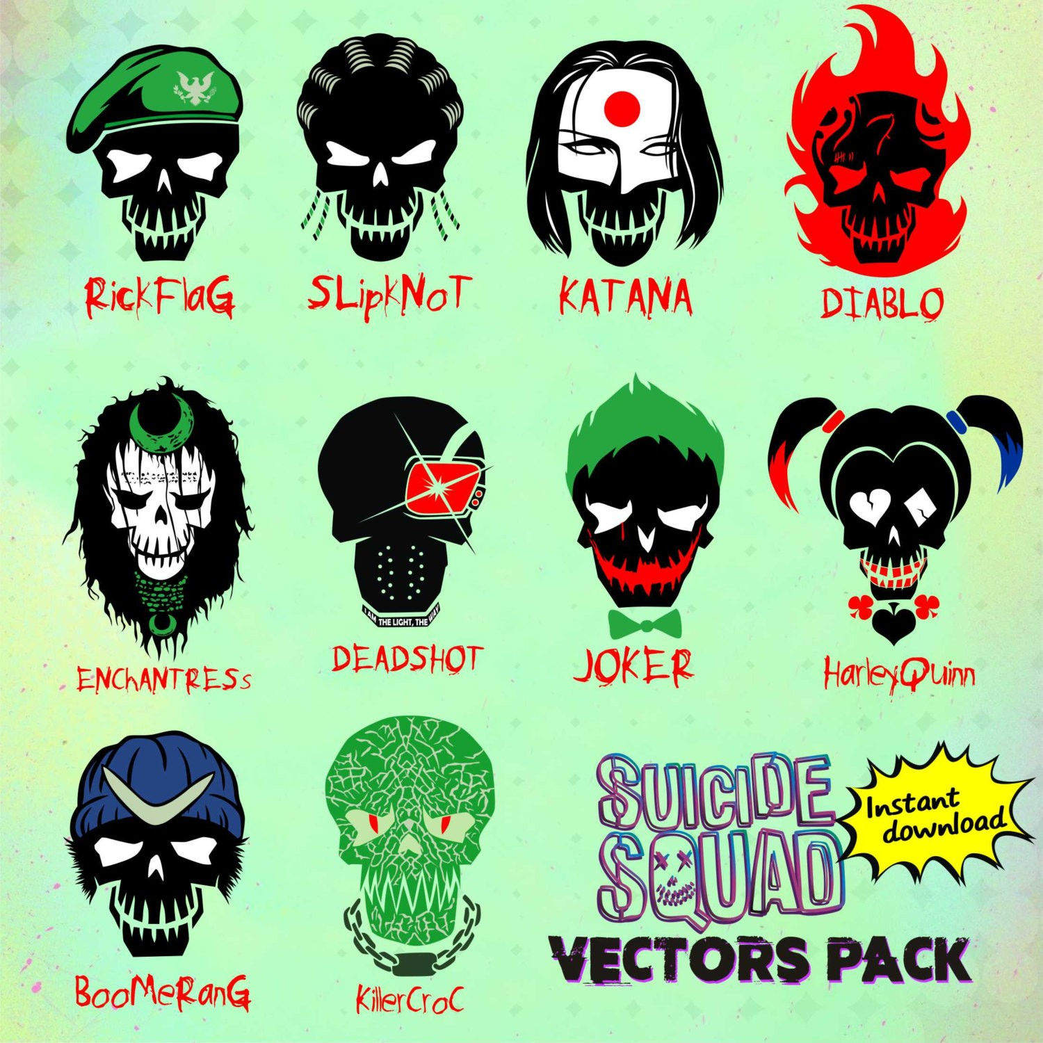 hight resolution of suicide squad hd clipart