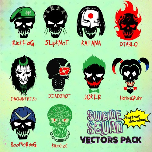 small resolution of suicide squad hd clipart