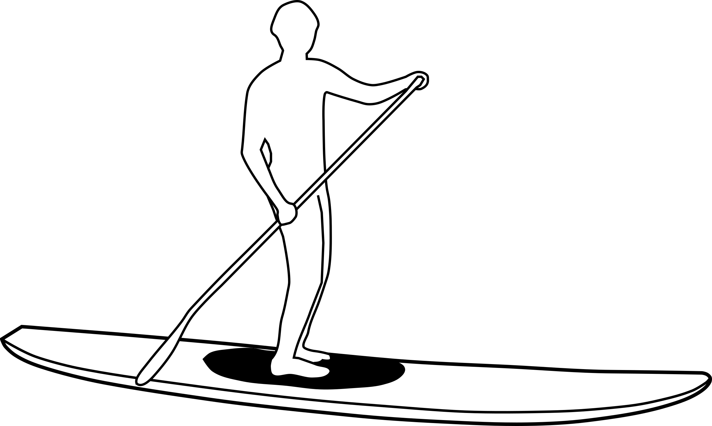 Stand Up Surf Clipart