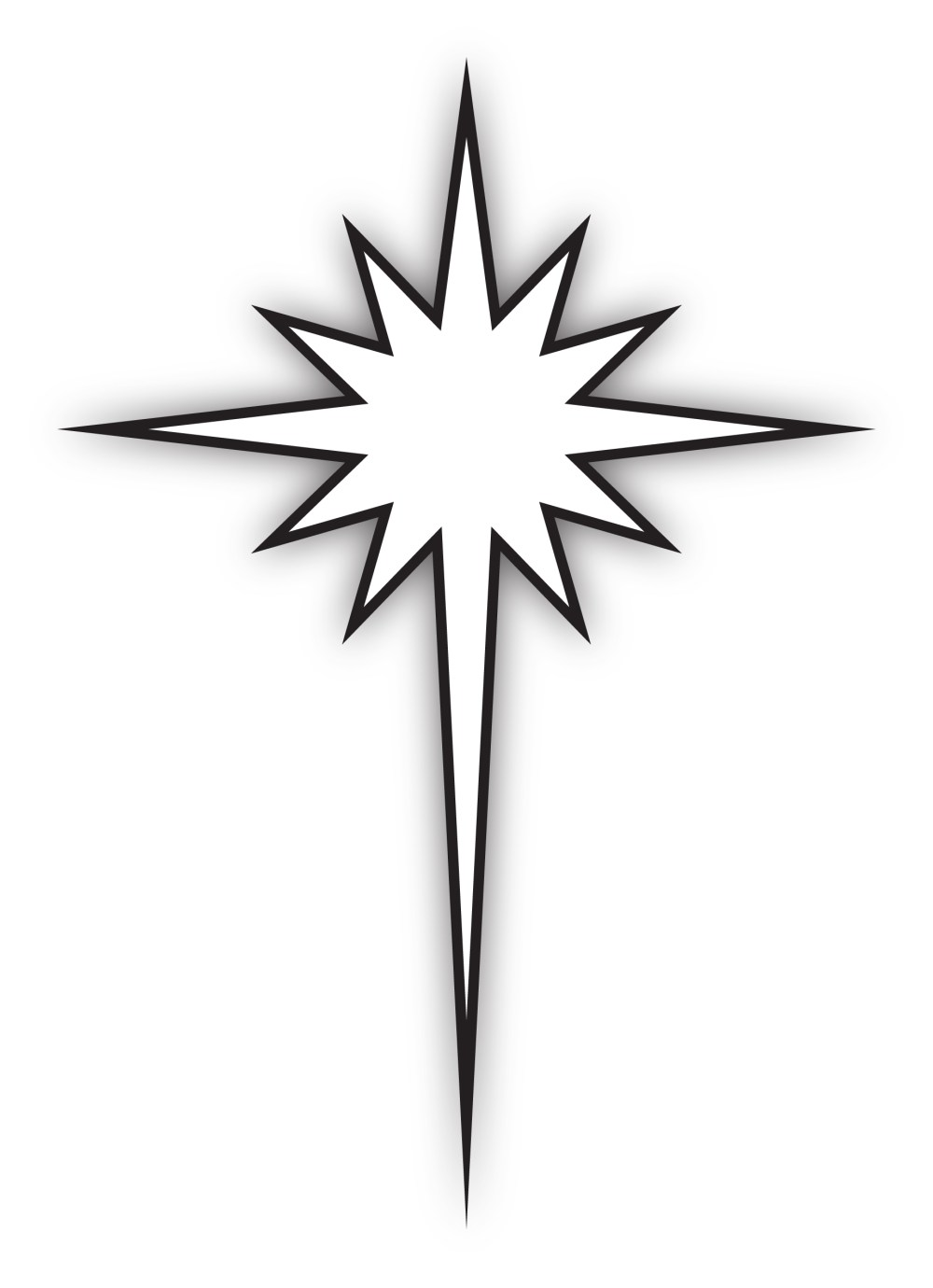 medium resolution of star of bethlehem black and white clipart