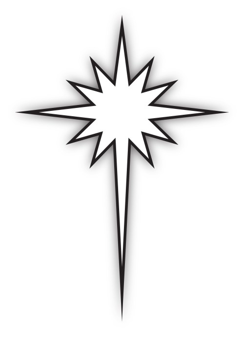 small resolution of star of bethlehem black and white clipart