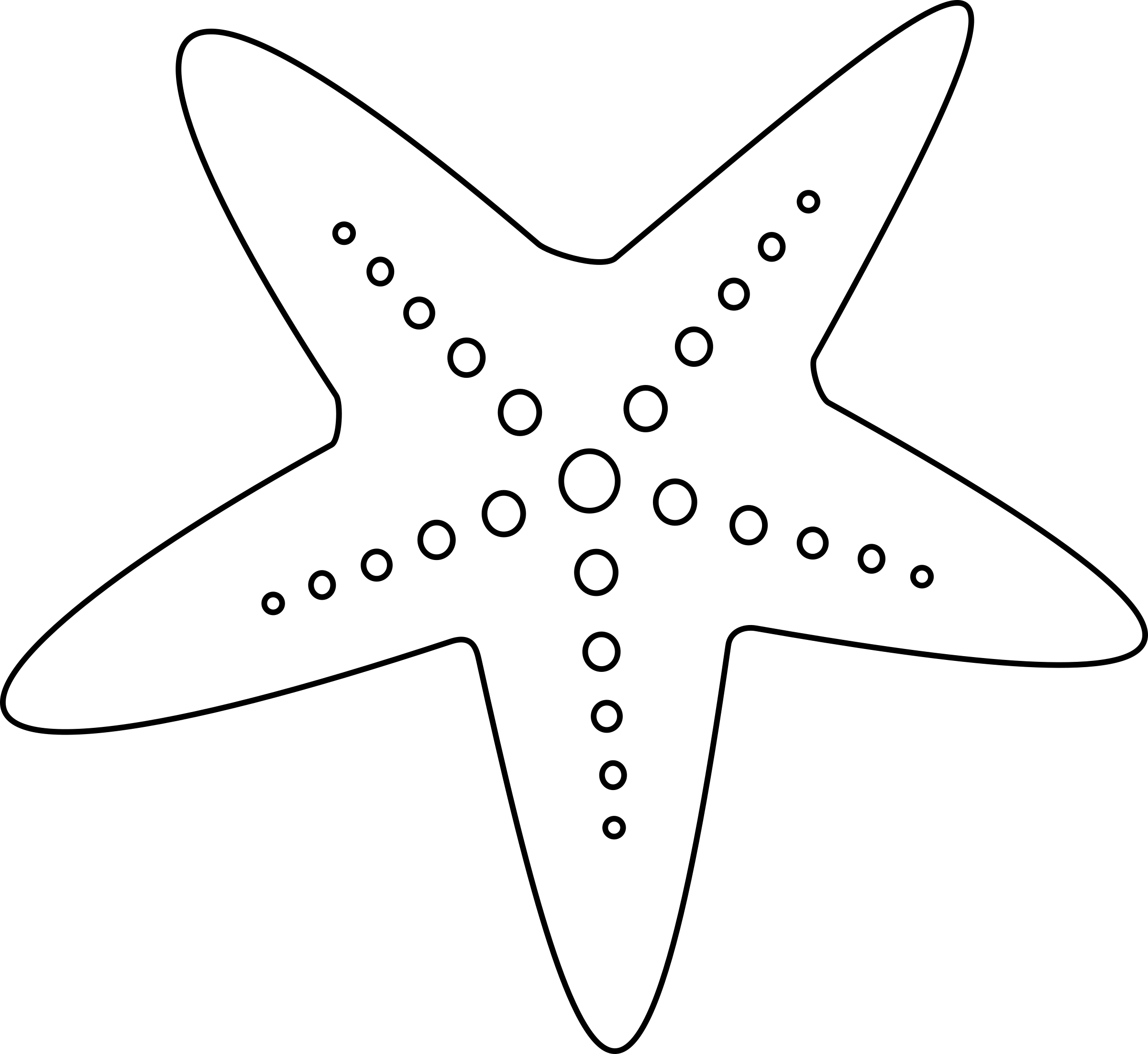 Starfish Outline Clipart