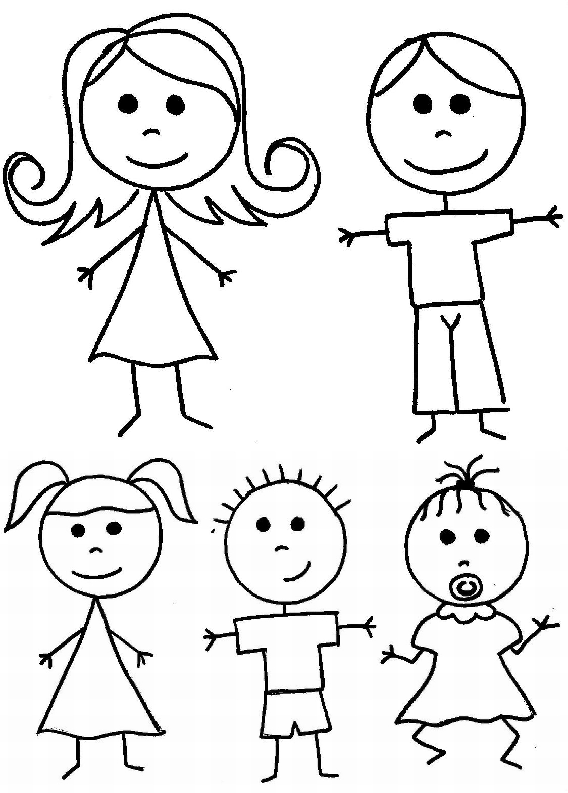Stick People Dad Clipart Black And White