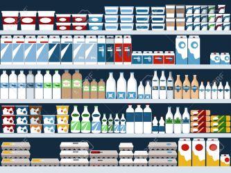grocery dairy display shelves aisle vector background clipart shelf prairie farms cleo cloud shutterstock eps illustration transparencies portfolio aleutie clipground