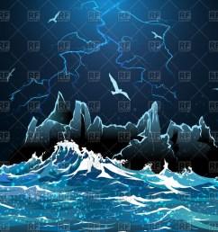 lightning in night sky stormy ocean 54441 travel download royalty [ 1200 x 923 Pixel ]