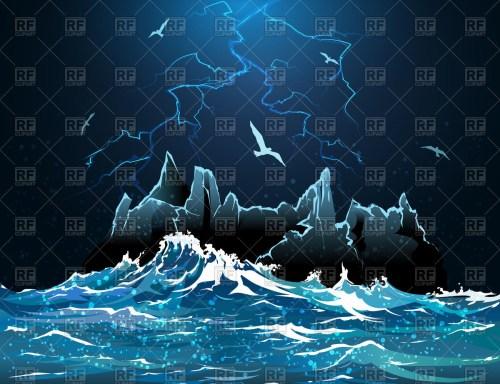 small resolution of lightning in night sky stormy ocean 54441 travel download royalty