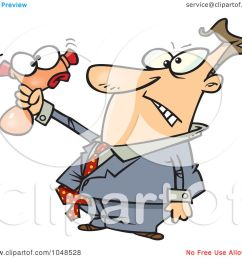royalty free rf clip art illustration of a cartoon businessman squeezing a stress toy by ron leishman [ 1080 x 1024 Pixel ]