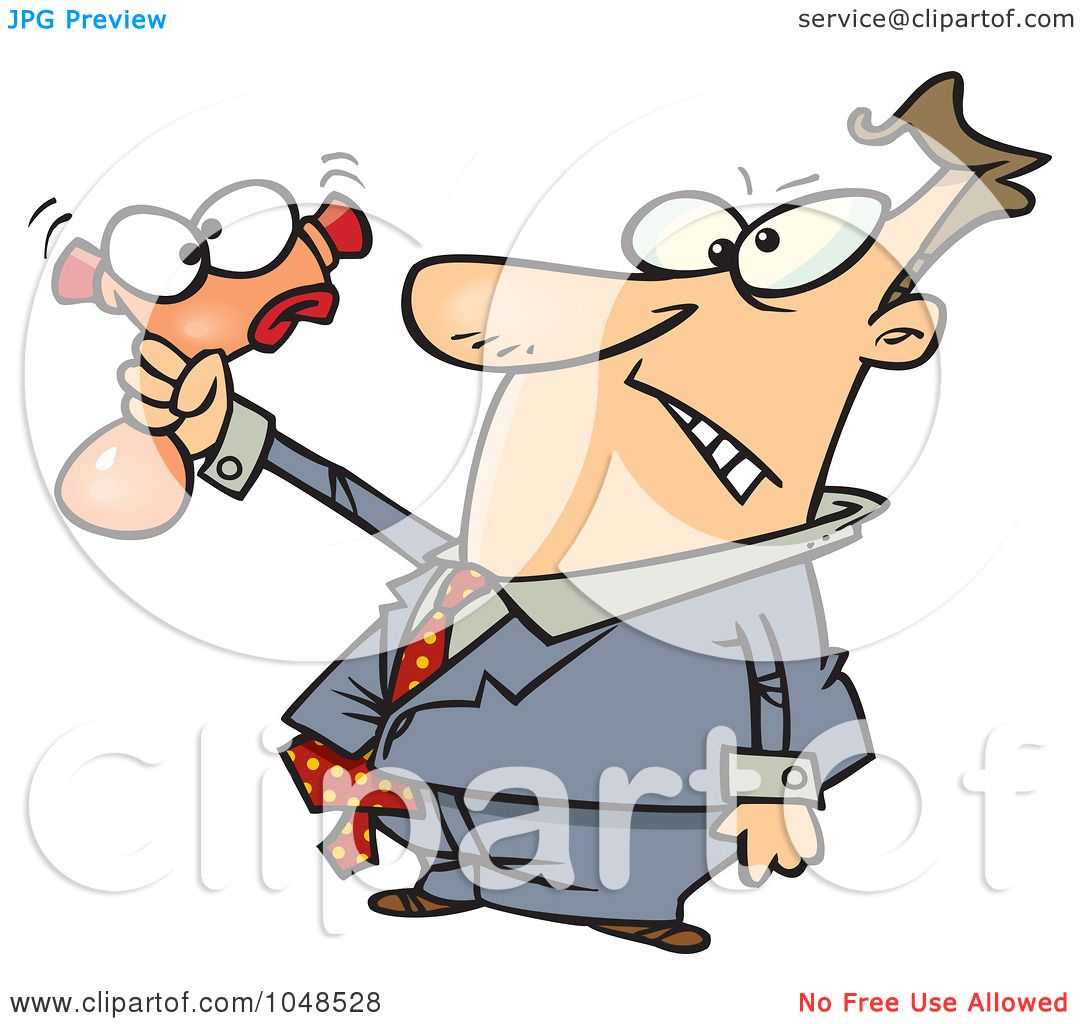 hight resolution of royalty free rf clip art illustration of a cartoon businessman squeezing a stress toy by ron leishman