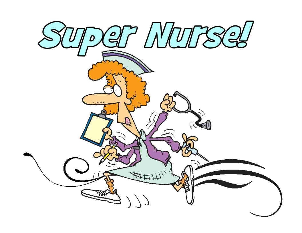 hight resolution of busy nurse clipart