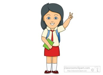 student clip clipart uniform female wearing students elementary obedient cliparts schoolgirl proud male college library clipground clipartpanda presentation working graphics