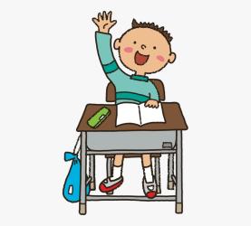 clipart hand student raising clipground